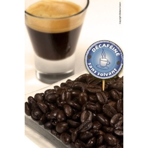Caf&eacute; d&eacute;caf&eacute;in&eacute; en grains &ndash; paquet 250g